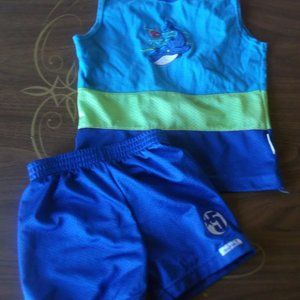 Blue Tank Top & Short Set Boy Size 2T